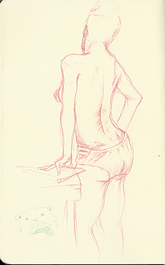 James Bond girl. Dr Sketchy anti art school