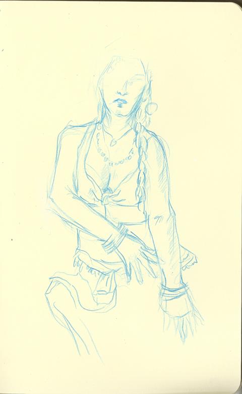 Dr Sketchy au Raspoutine